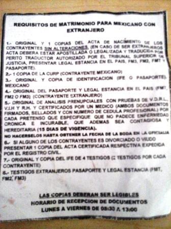 Requisitos para boda civil en cancun o riviera maya - Requisitos para casarse ...